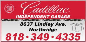Cadillac Independent Garage Sign