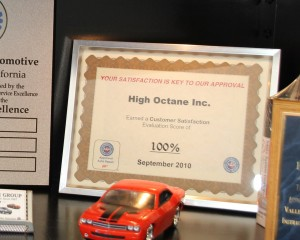 AAA Approved Auto Repair 100% Customer Satisfaction Award, High Octane Automotive, Northridge, CA